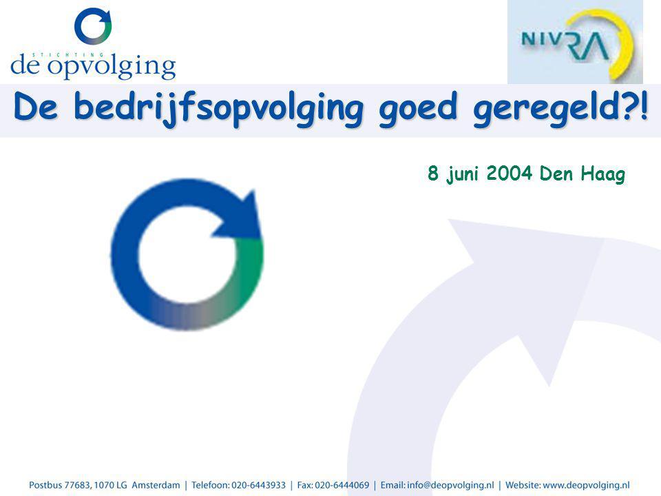 De bedrijfsopvolging goed geregeld ! 8 juni 2004 Den Haag