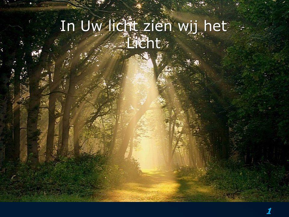 2 Jezus dan sprak opnieuw tot hen en zei: Ik ben het Licht der wereld; wie Mij volgt, zal beslist niet in de duisternis wandelen, maar zal het licht van het leven hebben.