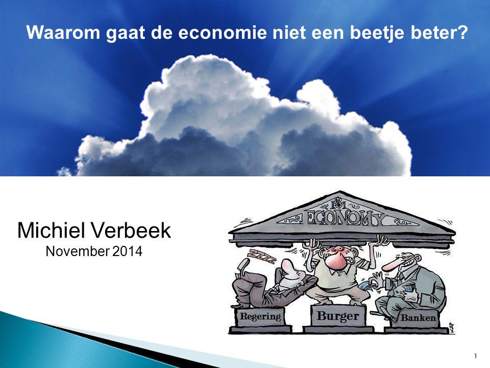 1 Michiel Verbeek November 2014 Waarom gaat de economie niet een beetje beter