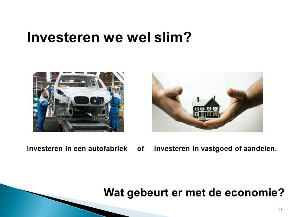15 Wat gebeurt er met de economie.