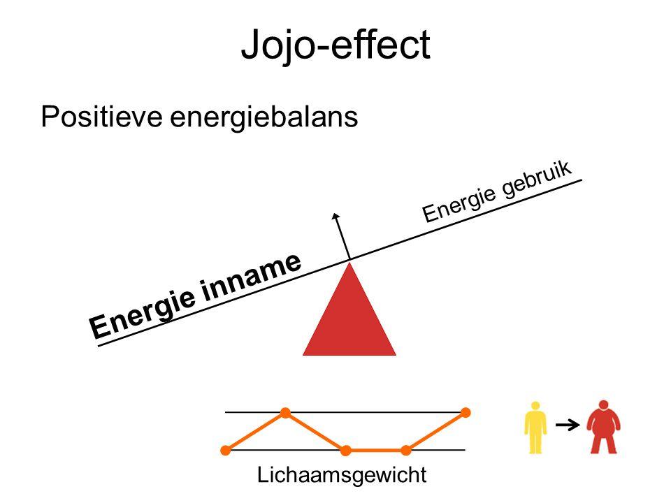 Jojo-effect Positieve energiebalans Lichaamsgewicht Energie inname Energie gebruik