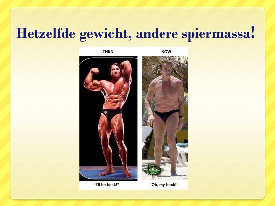 Hetzelfde gewicht, andere spiermassa !