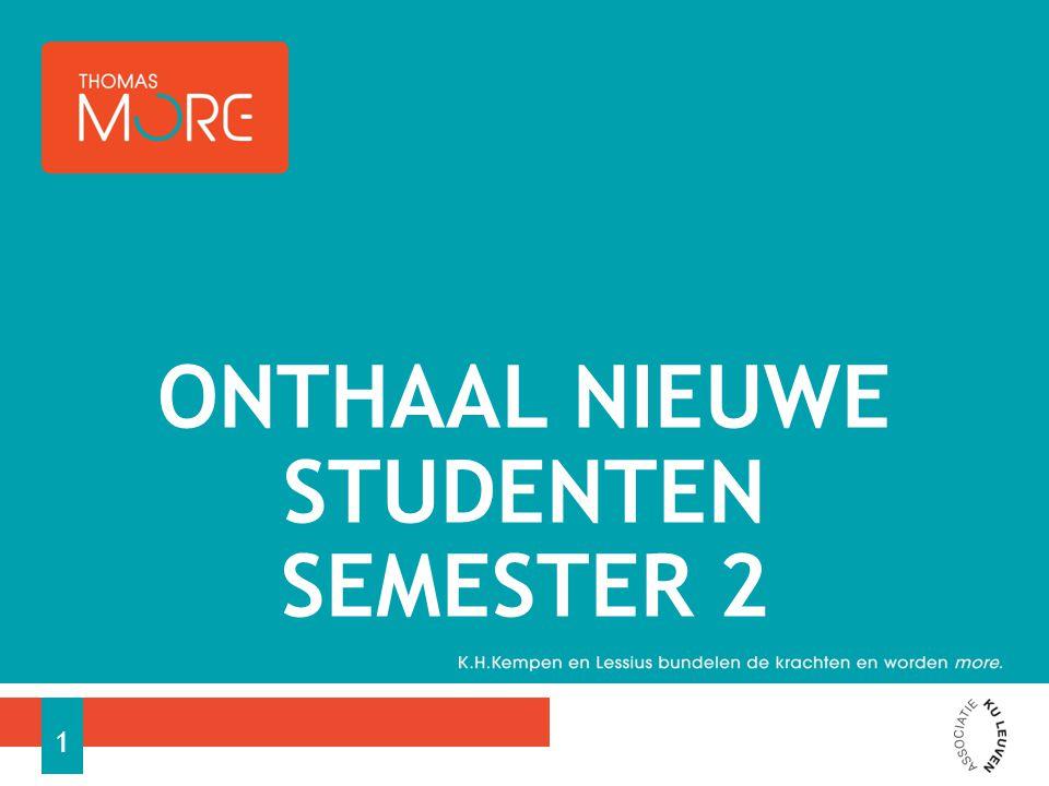 ONTHAAL NIEUWE STUDENTEN SEMESTER 2 1