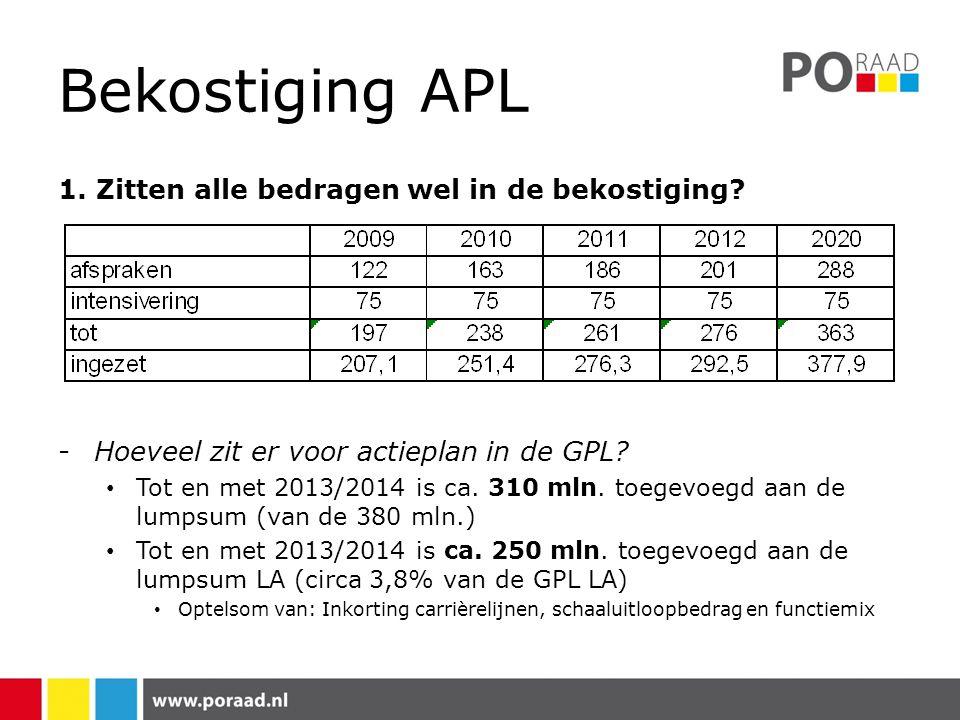 Bekostiging APL 2.Is de bekostiging wel toereikend.