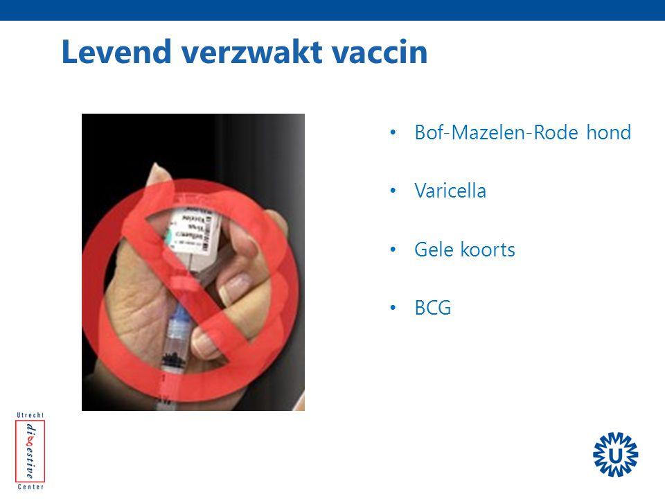 Bof-Mazelen-Rode hond Varicella Gele koorts BCG Levend verzwakt vaccin