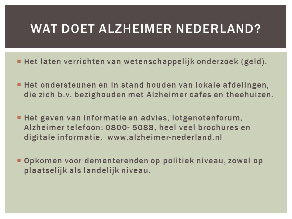  Alle vormen van dementie zijn progressieve ziekten van de hersenen.