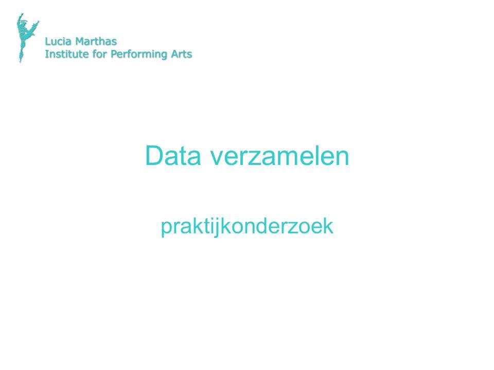 Data verzamelen praktijkonderzoek