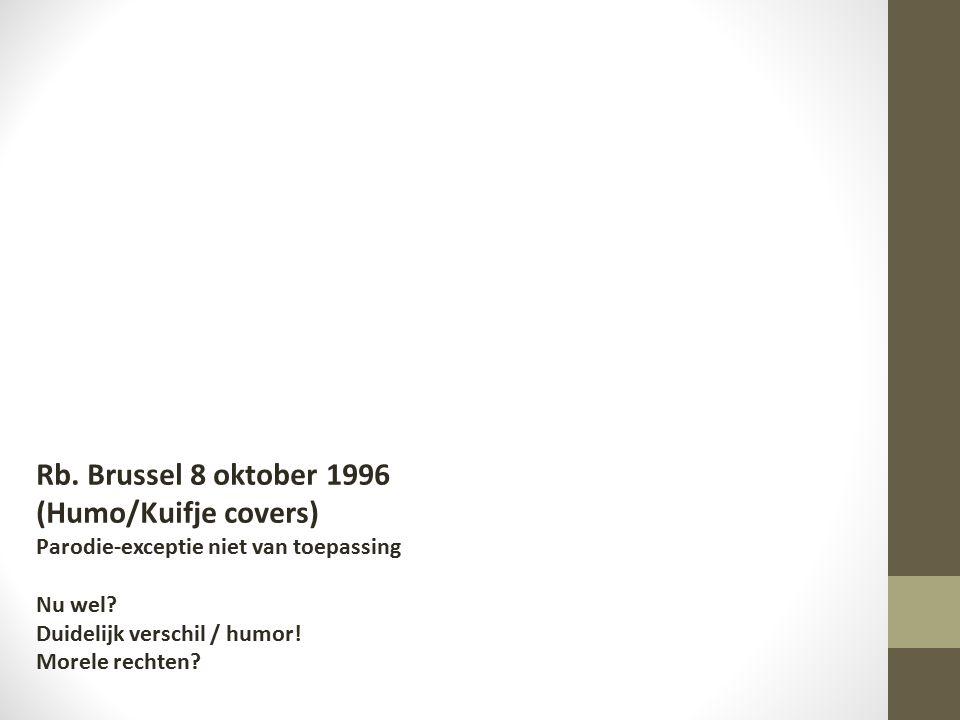 Rb.Brussel 8 oktober 1996 (Humo/Kuifje covers) Parodie-exceptie niet van toepassing Nu wel.