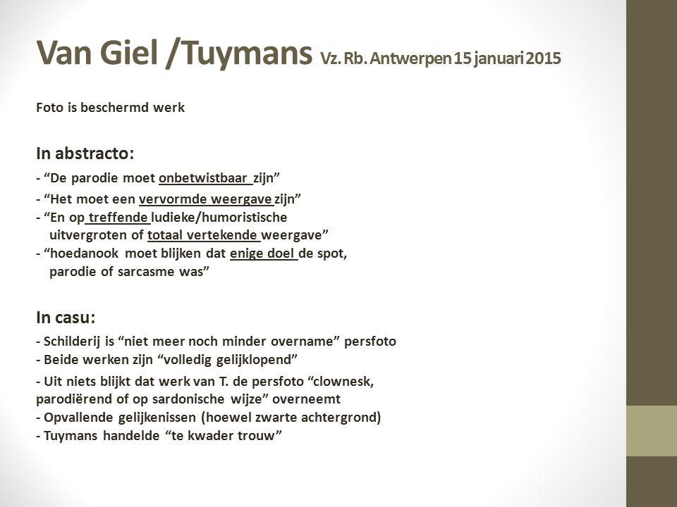 Van Giel /Tuymans Vz.Rb.