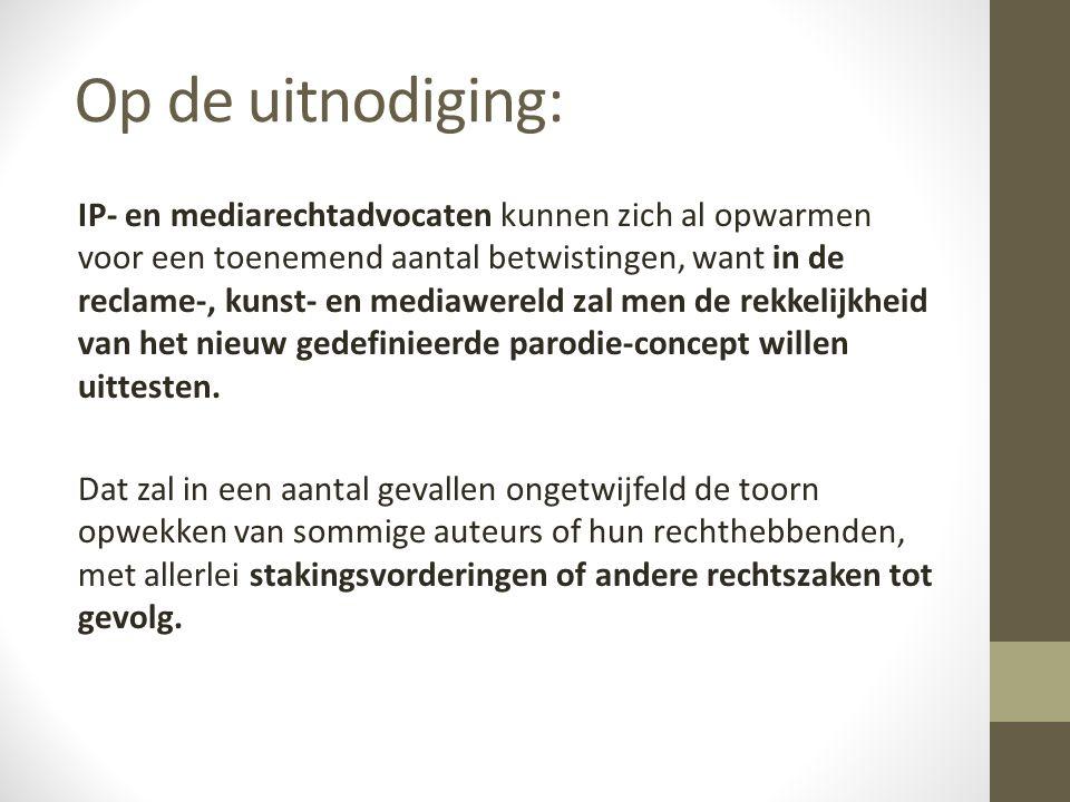 Van Giel / Tuymans Inbreuk op auteursrecht Geen parodie.