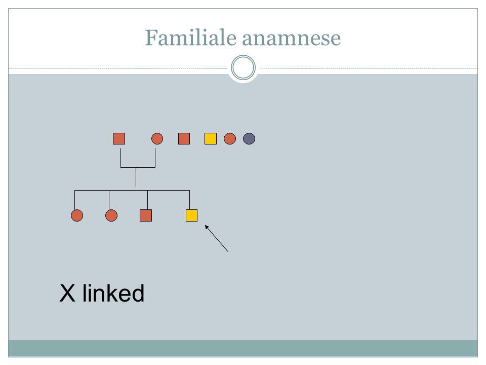 Familiale anamnese X linked