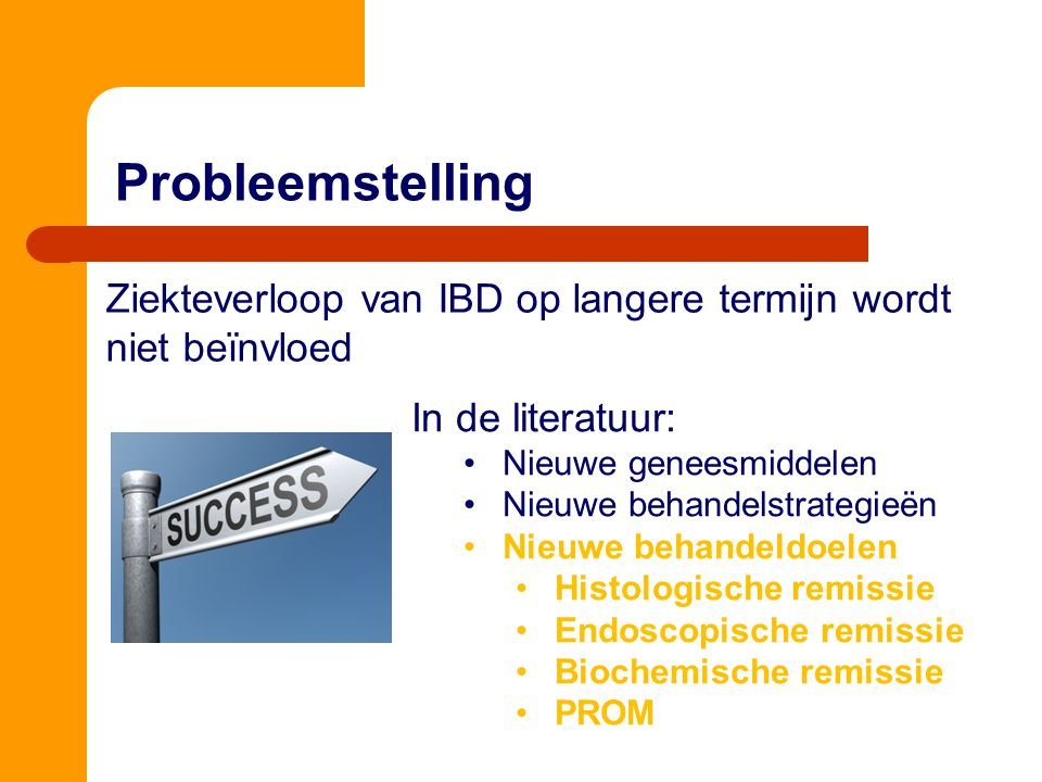 Probleemstelling Cellier C. et al. Gut. 1994