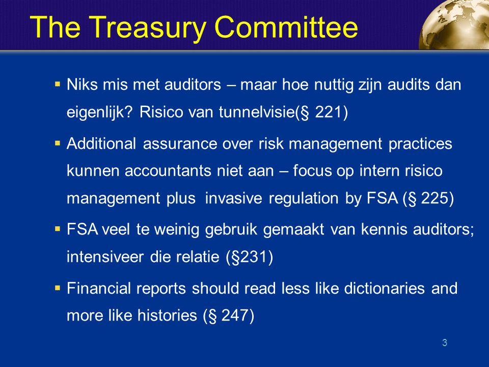 The Treasury Committee  Niks mis met auditors – maar hoe nuttig zijn audits dan eigenlijk.