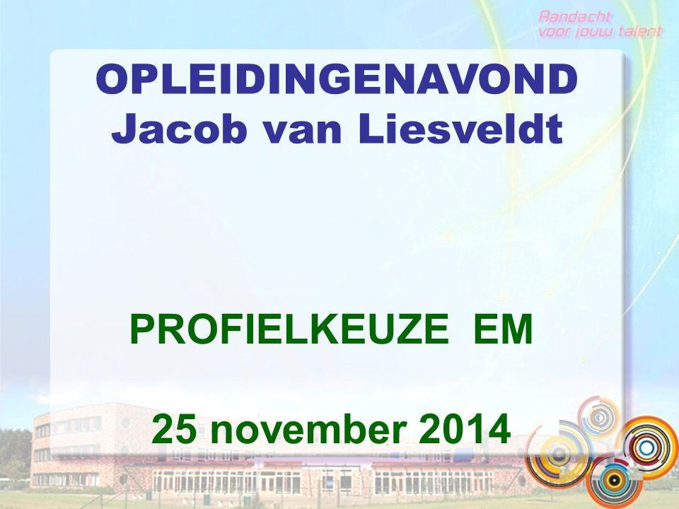 OPLEIDINGENAVOND Jacob van Liesveldt PROFIELKEUZE EM 25 november 2014