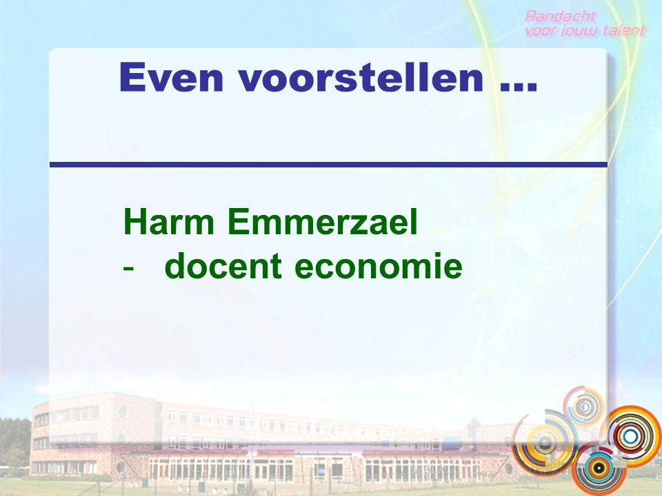 Even voorstellen … Harm Emmerzael -docent economie