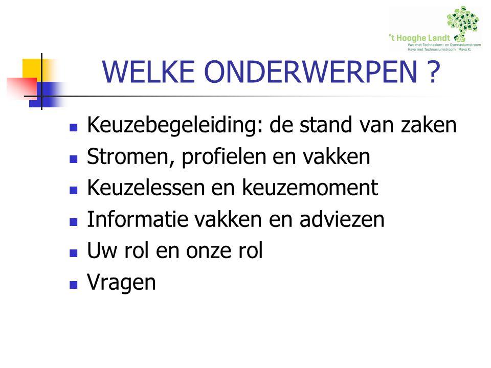 TOT SLOT Kiezen is verliezen www.kieseenprofiel.kennisnet.nl www.schoolweb.nl www.studiekeuze123.nl www.tkmst.nl Vragen .