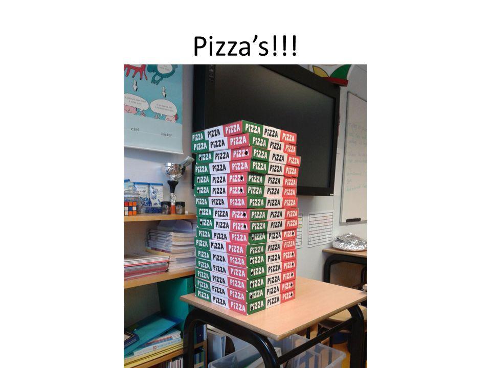 Pizza's!!!