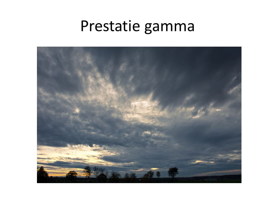 Prestatie gamma