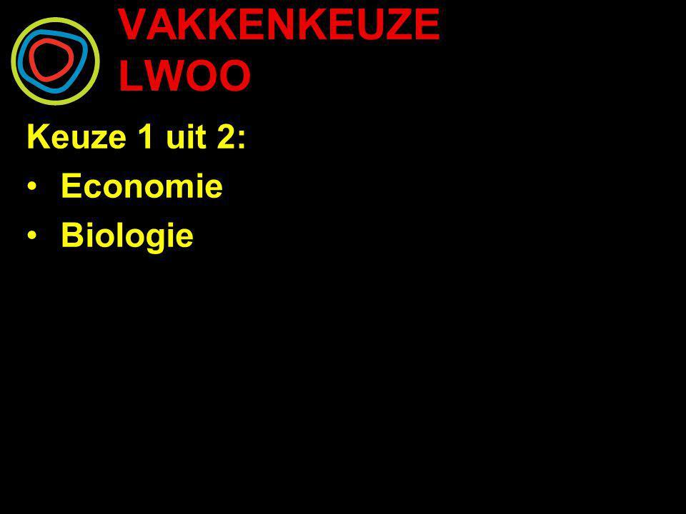 VAKKENKEUZE LWOO Keuze 1 uit 2: Economie Biologie