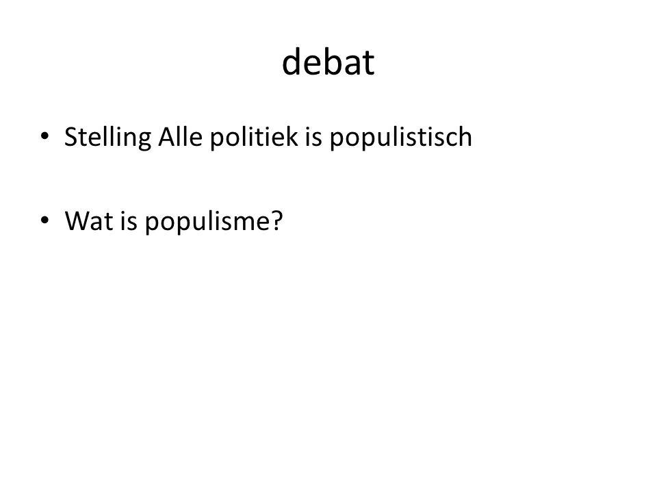 debat Stelling Alle politiek is populistisch Wat is populisme?