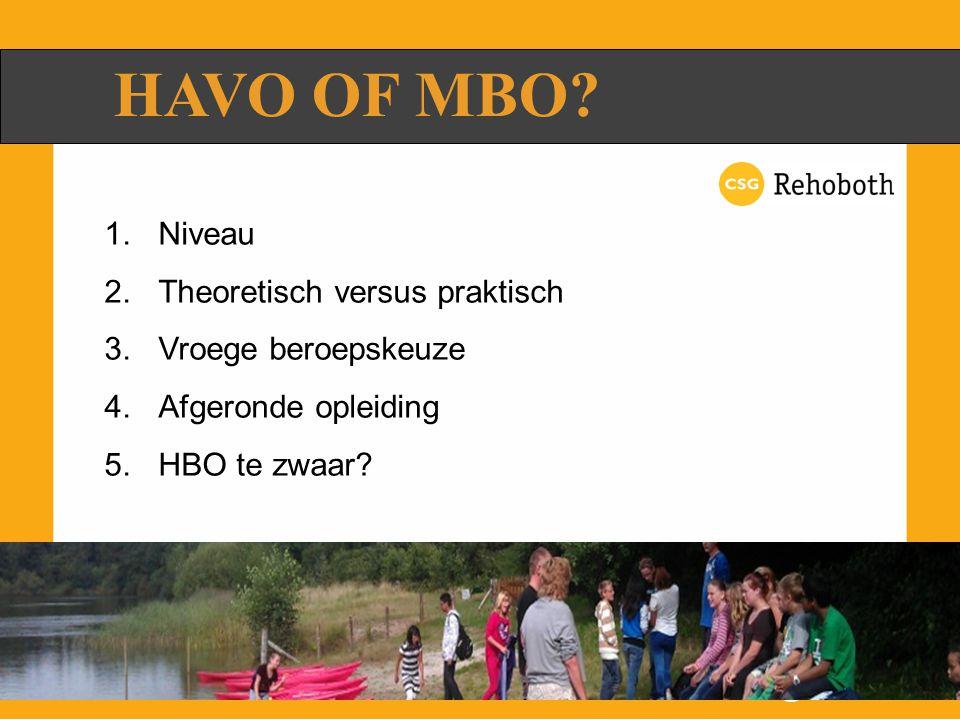 HAVO OF MBO.