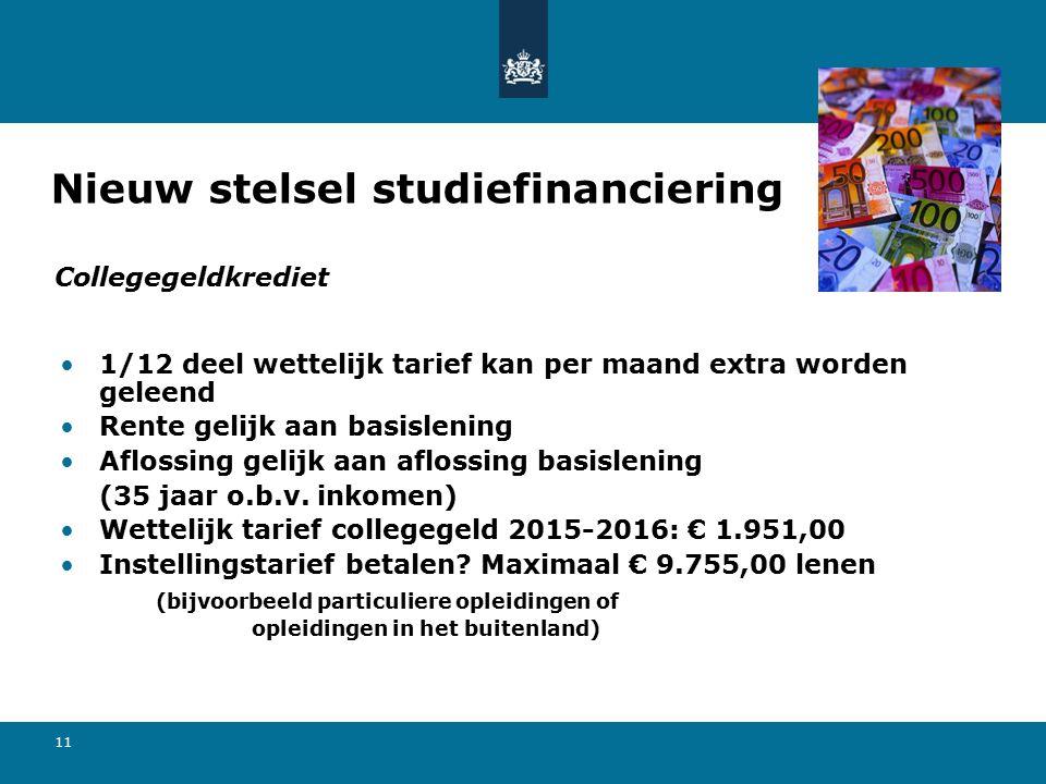 11 1/12 deel wettelijk tarief kan per maand extra worden geleend Rente gelijk aan basislening Aflossing gelijk aan aflossing basislening (35 jaar o.b.