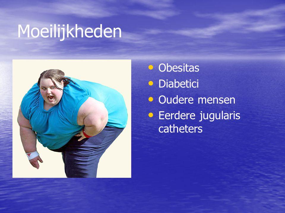 Moeilijkheden Obesitas Diabetici Oudere mensen Eerdere jugularis catheters