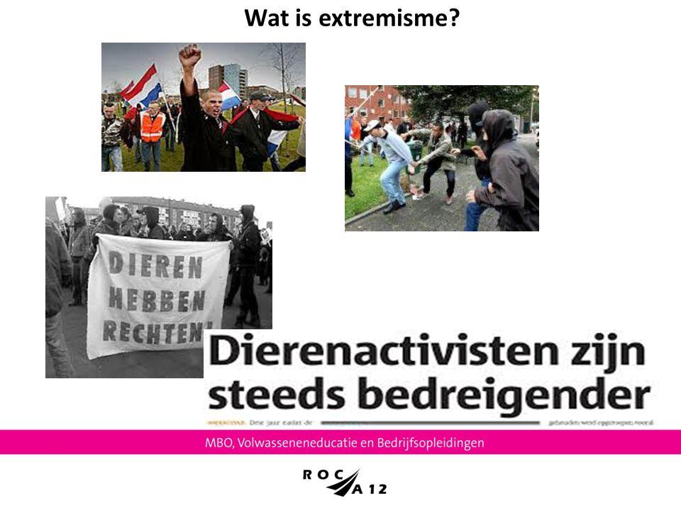 Wat is extremisme?