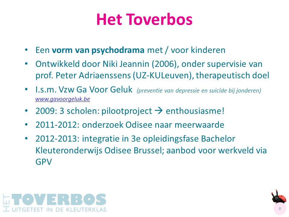Een vorm van psychodrama met / voor kinderen Ontwikkeld door Niki Jeannin (2006), onder supervisie van prof. Peter Adriaenssens (UZ-KULeuven), therape