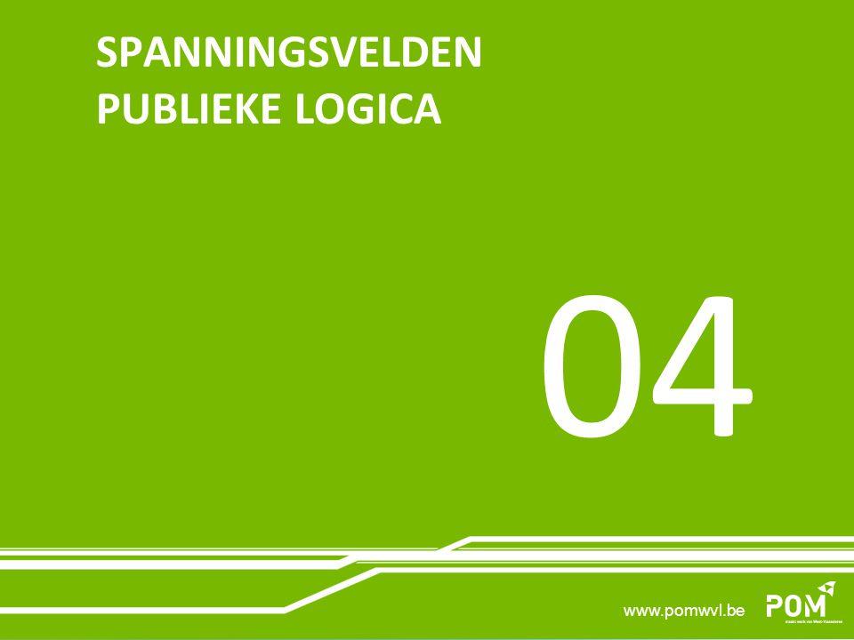 www.pomwvl.be SPANNINGSVELDEN PUBLIEKE LOGICA 04