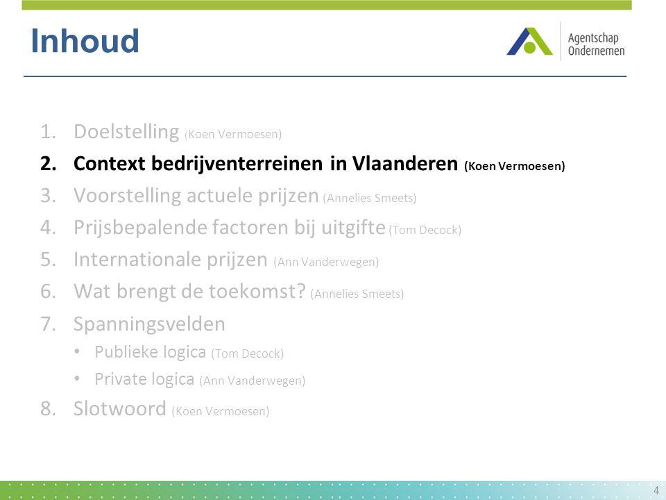  Ruimtegebruik: spreiding grote BT In Vlaanderen: 99 terreinen > 1 km² (51% van totale oppervlakte) Voornamelijk havens: zeehavens maar ook groot aandeel kanaalhavens (Albertkanaal, Kanaal van Willebroek,...) 5 Situatieschets: oppervlakte-dimensie bedrijventerreinen