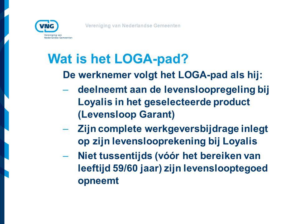 Vereniging van Nederlandse Gemeenten Wat is het LOGA-pad.