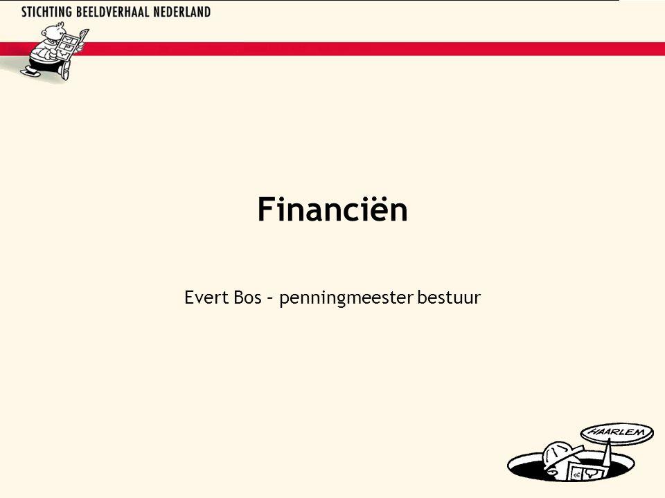 Financiën Evert Bos – penningmeester bestuur