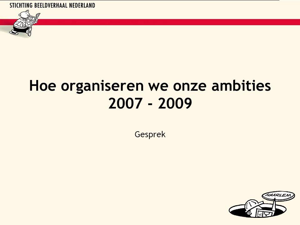 Hoe organiseren we onze ambities 2007 - 2009 Gesprek