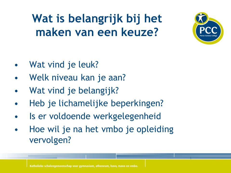 De 4 sectoren in het vmbo Techniek Zorg & Welzijn Economie Landbouw ( Clusius college)