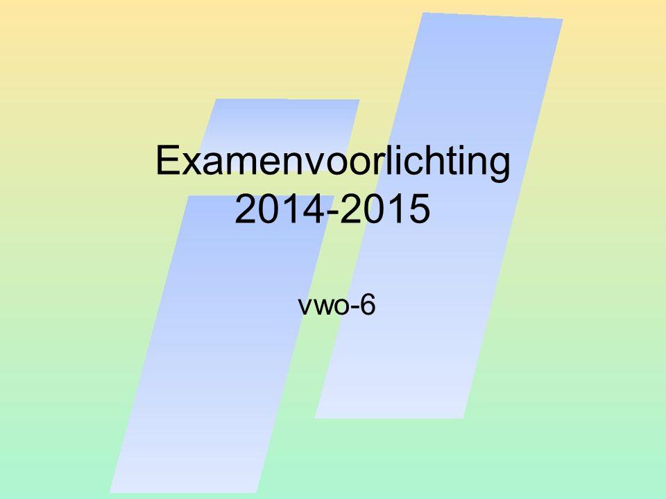Examenvoorlichting 2014-2015 vwo-6