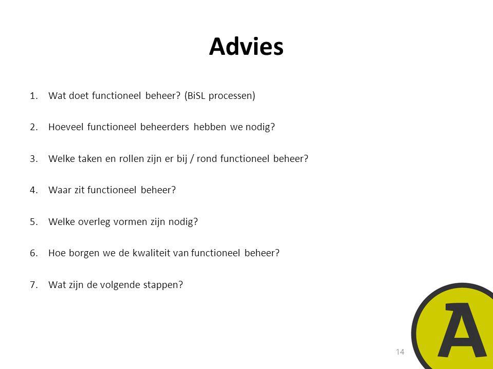 20 november 201414 | © Twynstra Gudde | Advies 1.Wat doet functioneel beheer.