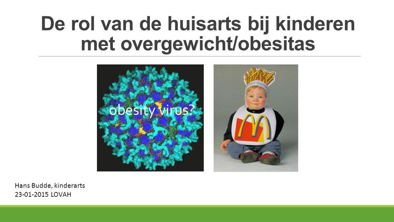 De rol van de huisarts bij kinderen met overgewicht/obesitas Hans Budde, kinderarts 23-01-2015 LOVAH