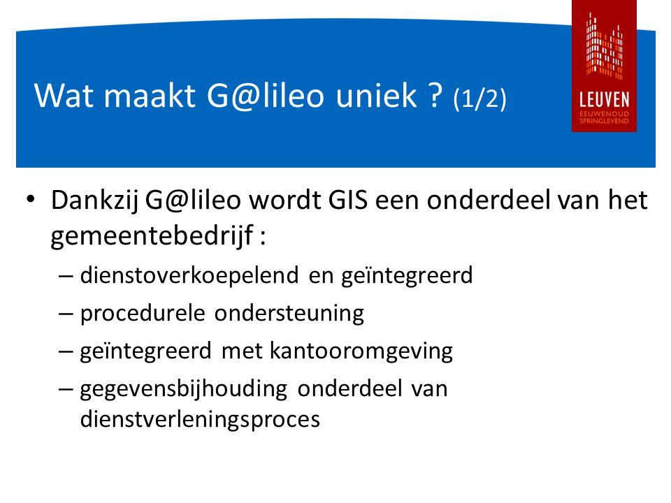 Wat maakt G@lileo uniek .