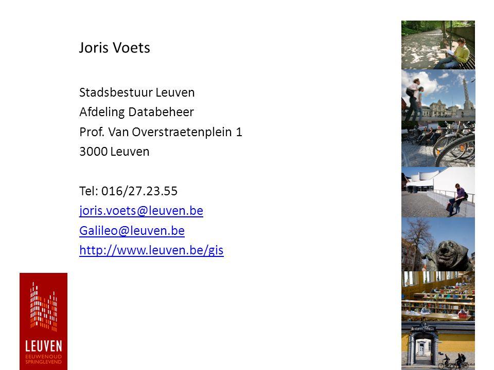 ld Joris Voets Stadsbestuur Leuven Afdeling Databeheer Prof.