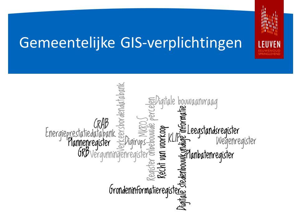 Gemeentelijke GIS-verplichtingen