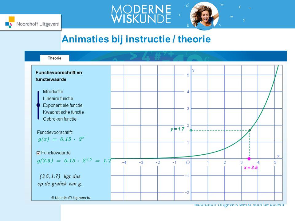 Animaties bij instructie / theorie