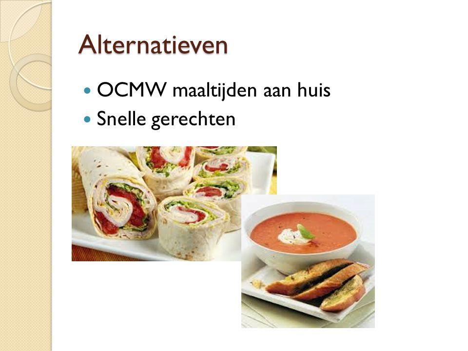 Alternatieven OCMW maaltijden aan huis Snelle gerechten