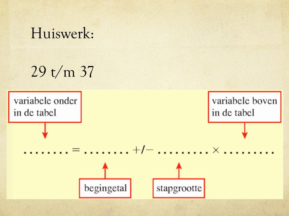 Huiswerk: 29 t/m 37