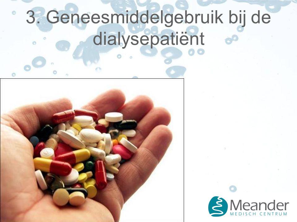 3. Geneesmiddelgebruik bij de dialysepatiënt
