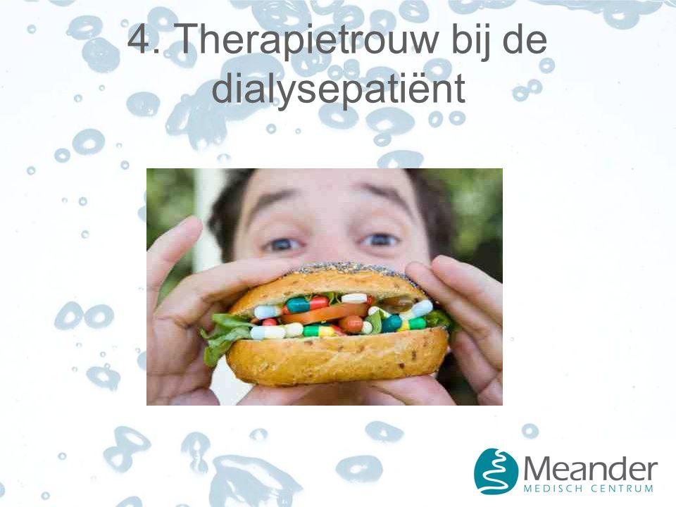 4. Therapietrouw bij de dialysepatiënt