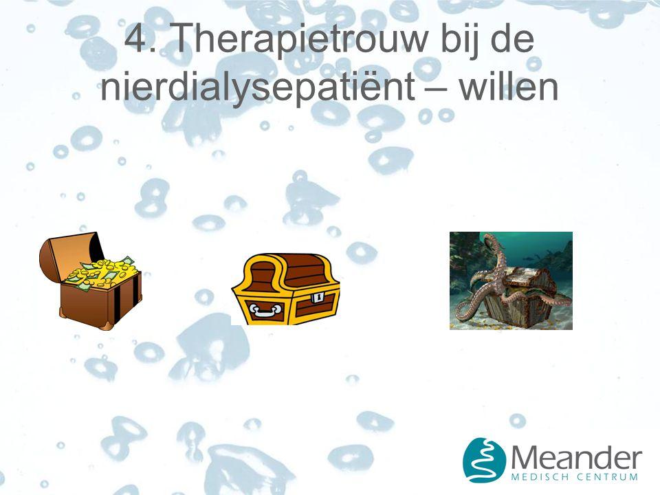 4. Therapietrouw bij de nierdialysepatiënt – willen
