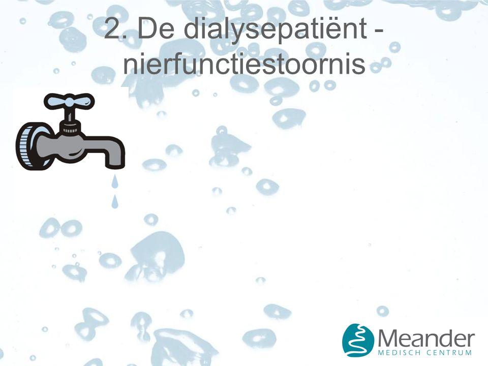 2. De dialysepatiënt - nierfunctiestoornis