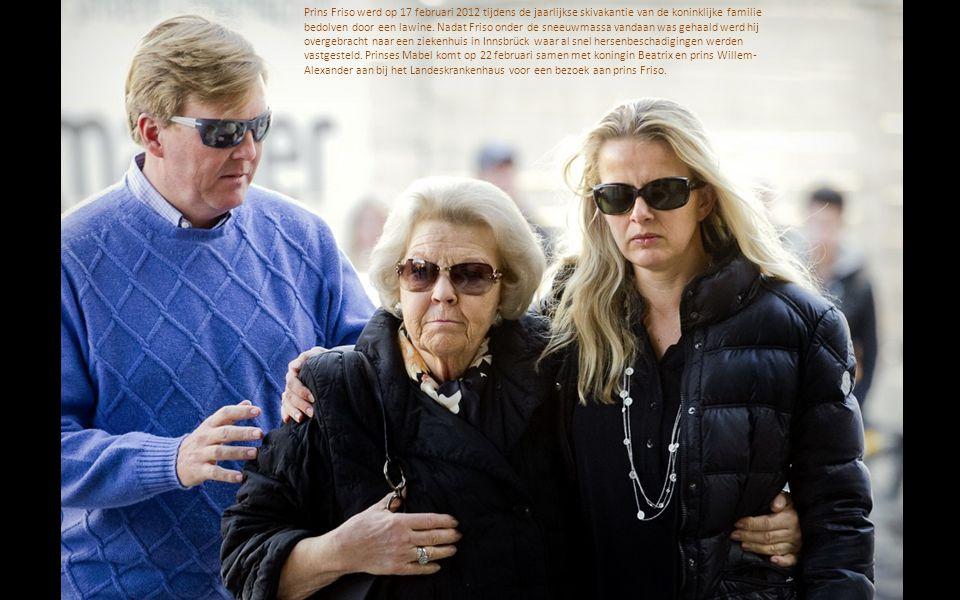 Prins Friso werd op 17 februari 2012 tijdens de jaarlijkse skivakantie van de koninklijke familie bedolven door een lawine.