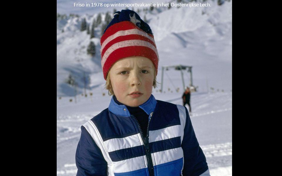 Friso in 1978 op wintersportvakantie in het Oostenrijkse Lech.